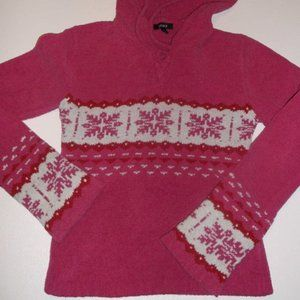 Jacob Jr Pink Hooded Sweater Medium Fits 10 12
